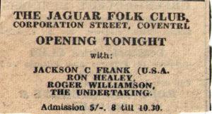 jackson C Frank Gig