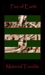 tarot five of earth