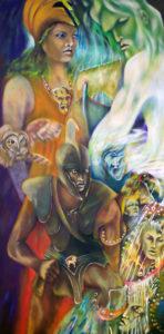 Odyssey life journdy depicted as our journey through life. Odyssey journey, Odysseus, T.S. Elliott, TS Elliot, T.S. Eliot, Waste Land, mythology, greece, greek, symbloic art, art symbolism, symbloic artist Roger Williamson