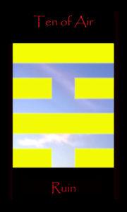 Ten of Air Ten of Swords rules the third decan of Gemini