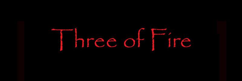 tarot three fire, three wands
