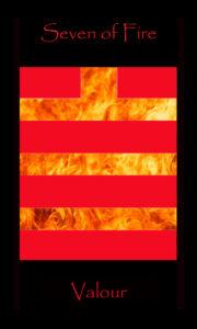Seven of Fire, tarot card, 7 of Fire