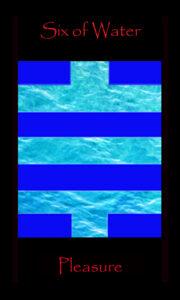 tarot six water,cups,