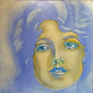 woman in blue,dream,