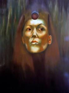 dark symbolic art,Black Sun Cult,dark sister,hecate,fine art