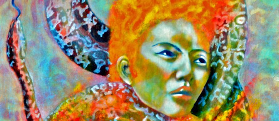 fire snake,tantra,kundalini,original painting