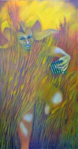 painting of ancient Greek god Pan,